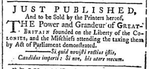 Aug 20 - 8:20:1768 Providence Gazette
