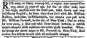 Aug 22 - New-York Gazette Weekly Mercury Supplement Slavery 1