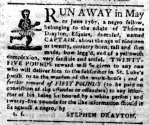 Aug 22 - South-Carolina Gazette Slavery 1