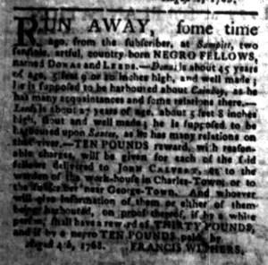 Aug 22 - South-Carolina Gazette Slavery 10