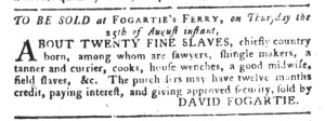 Aug 23 - South-Carolina Gazette and Country Journal Slavery 5