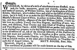 Aug 24 - Georgia Gazette Slavery 2