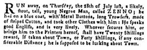 Aug 25 - Pennsylvania Gazette Supplement Slavery 2