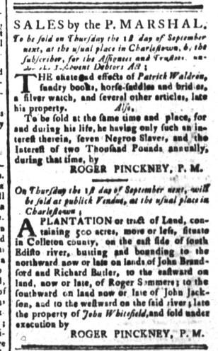 Aug 26 - South-Carolina and American General Gazette Slavery 2