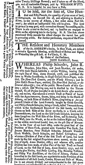 Aug 29 - 8:29:1768 New-York Gazette Weekly Mercury