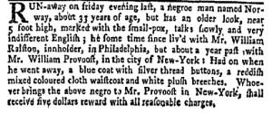 Aug 29 - New-York Gazette Weekly Mercury Supplement Slavery 2