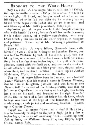 Aug 30 - South-Carolina Gazette and Country Journal Supplement Slavery 2