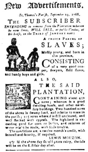 Oct 3 - South-Carolina Gazette Slavery 1