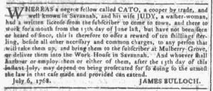 Sep 14 - 9:14:1768 Georgia Gazette