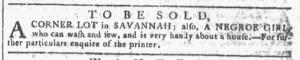 Sep 14 - Georgia Gazette Slavery 7
