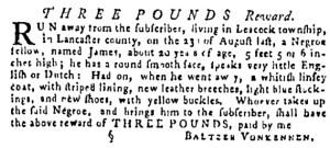 Sep 15 - Pennsylvania Gazette Supplement Slavery 1