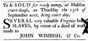 Sep 15 - Virginia Gazette Purdie and Dixon Slavery 5
