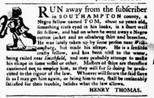 Sep 15 - Virginia Gazette Purdie and Dixon Slavery 9