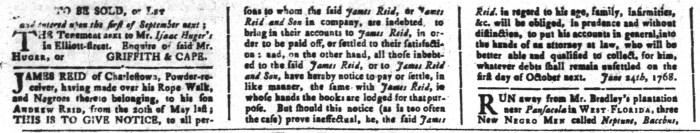 Sep 16 - South-Carolina and American General Gazette Slavery 4