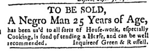Sep 19 - Massachusetts Gazette Green and Russell Slavery 1