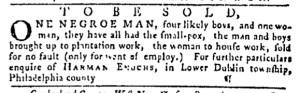 Sep 29 - Pennsylvania Gazette Postscript Slavery 1