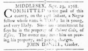 Sep 29 - Virginia Gazette Rind Slavery 2