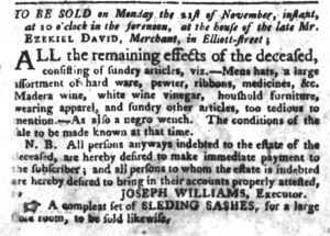 Nov 1 - South-Carolina Gazette and Country Journal Slavery 3