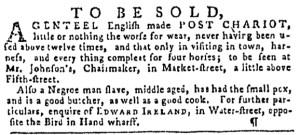 Nov 10 - Pennsylvania Gazette Slavery 2