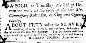 Nov 10 - Virginia Gazette Purdie and Dixon Slavery 3