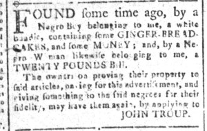 Nov 11 - South-Carolina and American General Gazette Slavery 3
