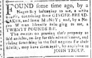 Nov 11 - South-Carolina and American General Gazette Slavery 3