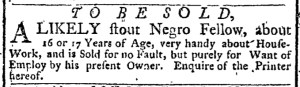 Nov 14 - New-York Gazette Weekly Post-Boy Slavery 3