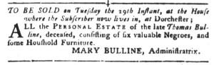 Nov 15 - South-Carolina Gazette and Country Journal Slavery 4