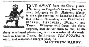 Nov 15 - South-Carolina Gazette and Country Journal Slavery 5