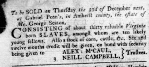 Nov 17 - Virginia Gazette Rind Slavery 10