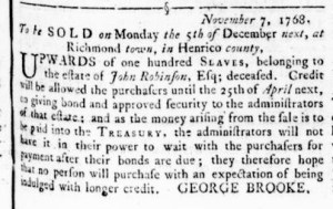 Nov 17 - Virginia Gazette Rind Slavery 4