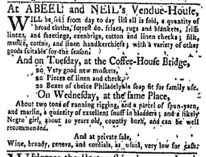 Nov 21 - New-York Gazette Weekly Mercury Slavery 3
