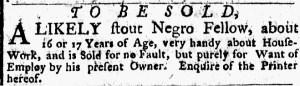 Nov 21 - New-York Gazette Weekly Post-Boy Slavery 2