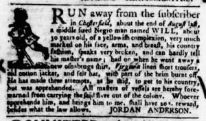 Nov 3 - Virginia Gazette Purdie and Dixon Slavery 10