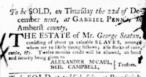 Nov 3 - Virginia Gazette Purdie and Dixon Slavery 3