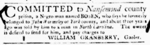 Nov 3 - Virginia Gazette Purdie and Dixon Slavery 7