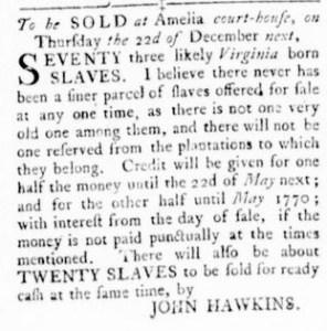 Nov 3 - Virginia Gazette Rind Slavery 4