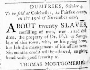 Nov 3 - Virginia Gazette Rind Slavery 9