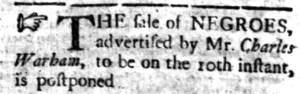 Nov 7 - South-Carolina Gazette Slavery 1
