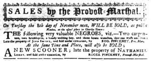 Nov 7 - South-Carolina Gazette Slavery 5