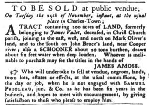 Nov 8 - South-Carolina Gazette and Country Journal Slavery 2