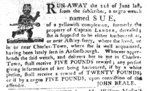 Nov 8 - South-Carolina Gazette and Country Journal Slavery 8