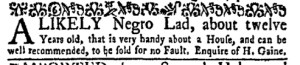 Oct 10 - New-York Gazette Weekly Mercury Slavery 2