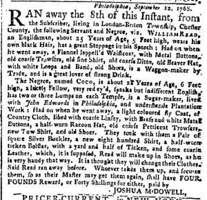 Oct 10 - New-York Gazette Weekly Post-Boy Slavery 3