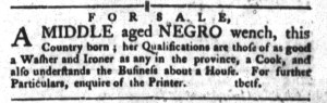 Oct 11 - South-Carolina Gazette and Country Journal Slavery 1