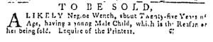Oct 13 - Pennsylvania Gazette Slavery 1