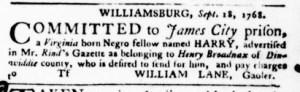 Oct 13 - Virginia Gazette Purdie and Dixon Slavery 5