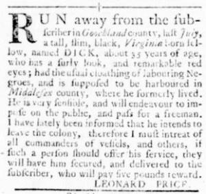 Oct 13 - Virginia Gazette Rind Slavery 13