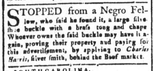 Oct 21 - South-Carolina and American General Gazette Slavery 3