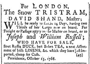 Oct 22 - 10:22:1768 Providence Gazette